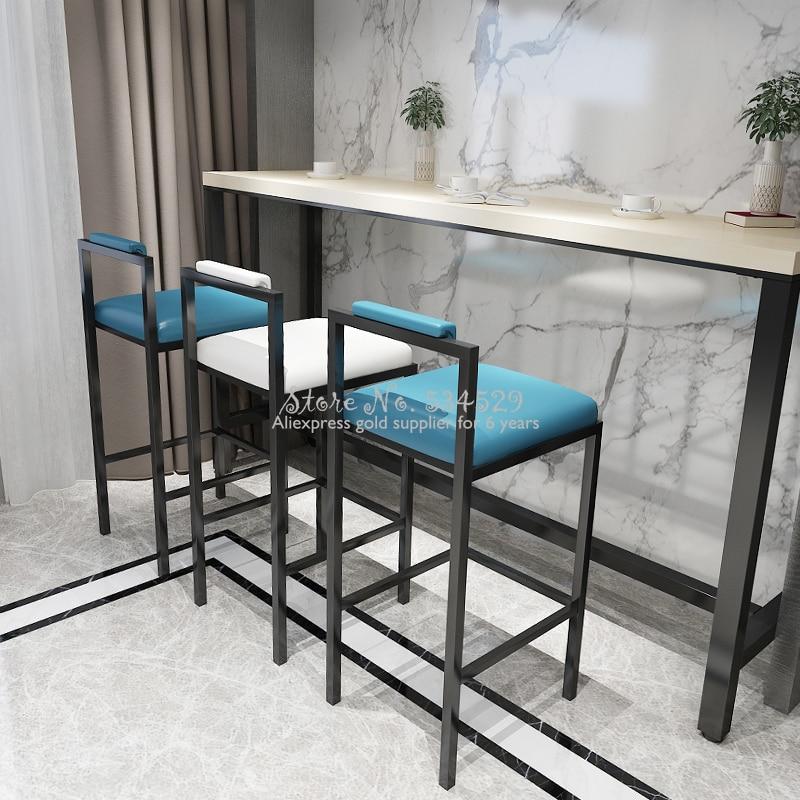 Nordic Bar Stools Fashion Modern Minimalist Bar High-quality Metallic Materials Bar Chair Creative Design Chair 65/75cm