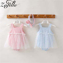 baby girl dress summer children clothing 2017 baby girl clothes cute newborn baby clothes roupas bebe infant kids dresses ZAFILLE Baby Girl Clothes Solid Cute Newborn Infant Baby Girl Dress Sleeveless Mesh Kids Clothes Summer Princess Birthday Dress