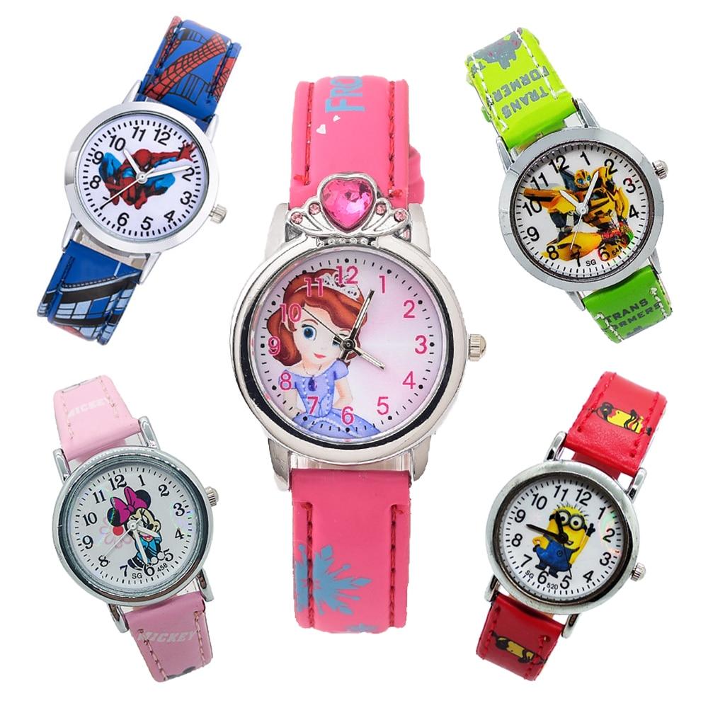 Reloj Infantil Female Student Kids Watches Princess Diamond Children Watch Spiderman Women Quartz Wristwatches Girl Boy Clock