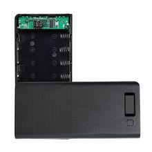 (Pil) çift USB 8x18650 piller DIY güç bankası kutu tutucu kılıf şarj güç adaptörü için Tablet telefon
