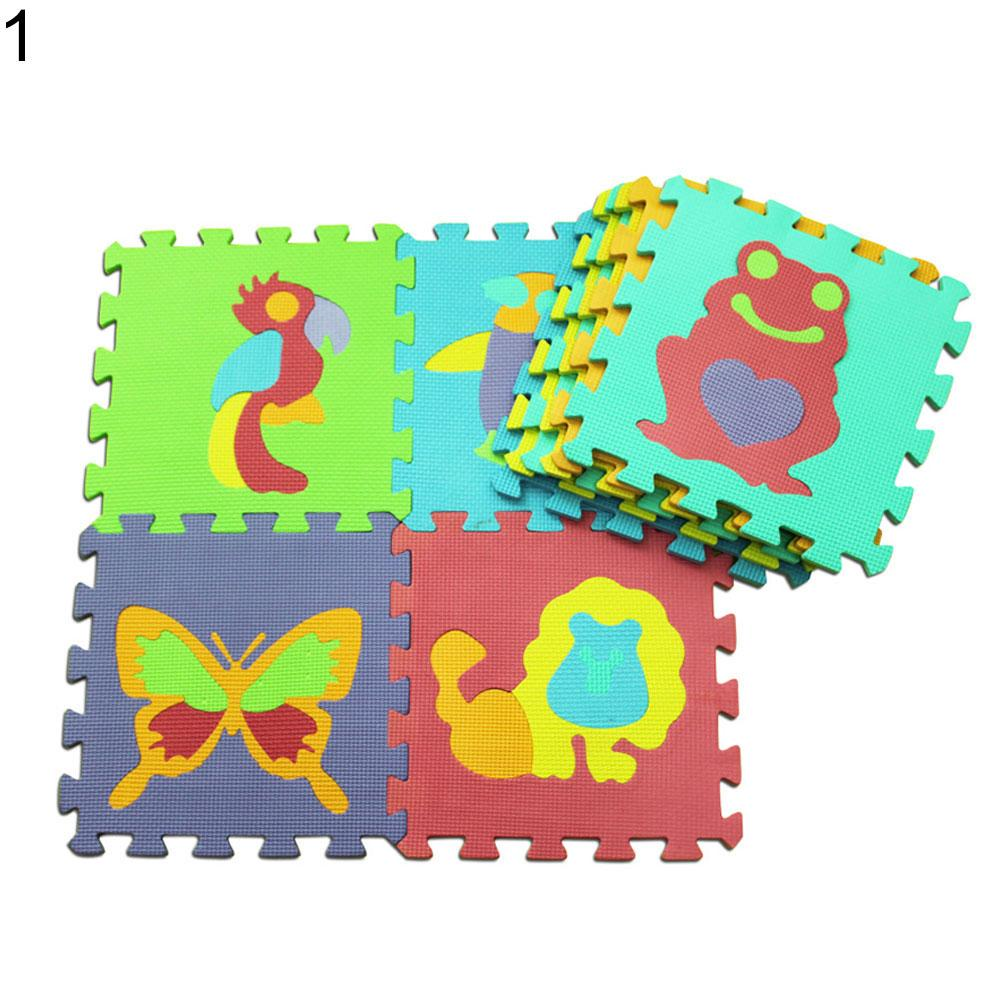 10Pcs/Set Baby Kids Floor Mats Crawling EVA Floor Mat Animal Fruit Numbers Puzzle Pad Toy Baby Game Pad Creeping Mat Game Mat
