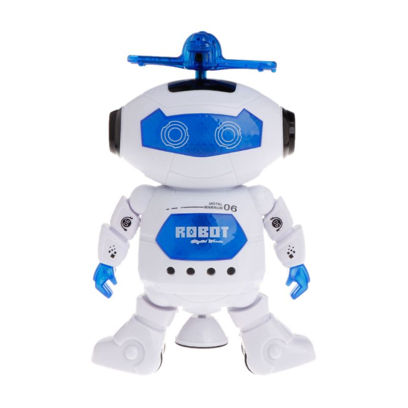 Electronic Walking Dancing Robot Toys With Music Lightening For Kids  E65D