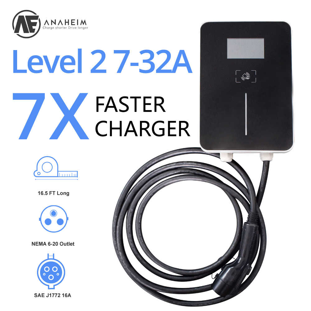 AE Anaheim j1772 7kw evse electric car charger ev Level 2