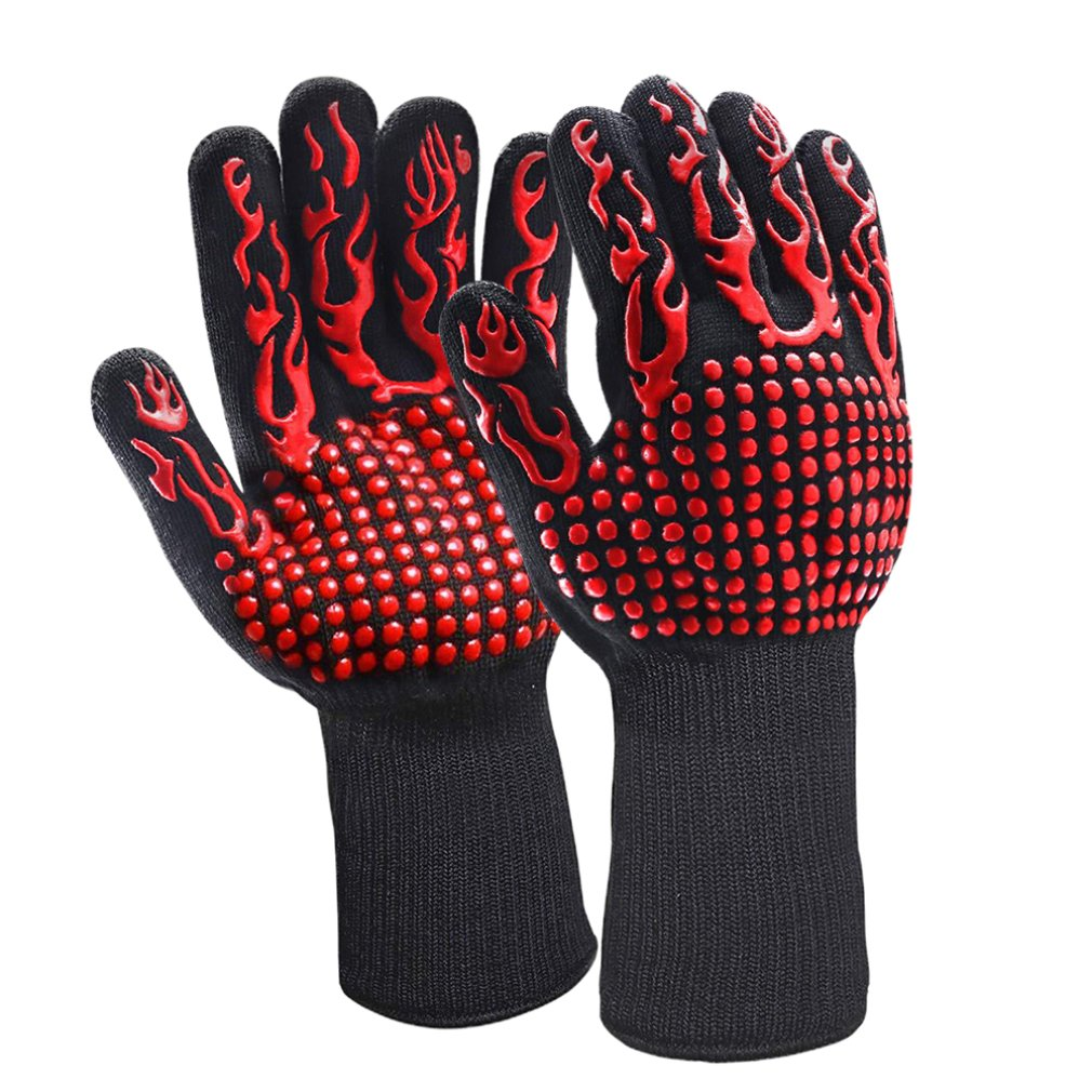 1Pcs High Temperature BBQ Barbecue Oven Welding Gloves Resistant to 800 Degrees
