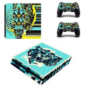 Image 5 - Custom Design PS4 Slim Aufkleber Play station 4 Haut Aufkleber Aufkleber Für PlayStation 4 PS4 Slim Konsole & Controller Skins vinyl