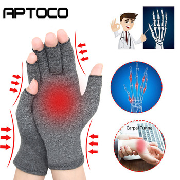 1 Pair Compression Arthritis Gloves Premium Arthritic Joint Pain Relief Hand Therapy Open Fingers