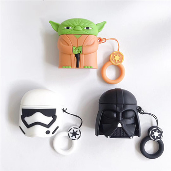 Housses silicones Airpod Casque Star Wars Dark Vador Yoda