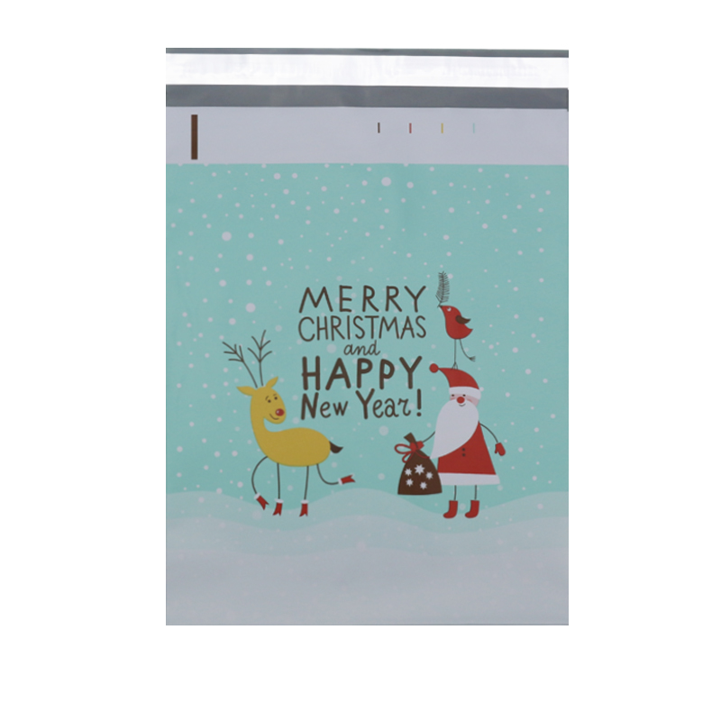 100pcs 25.5x33cm 10x13 Inch Christmas Theme Pattern Poly Mailers Self Seal Plastic Envelope Bags/Christmas Gift Mailing Bag