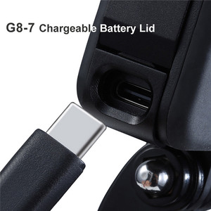 Image 4 - Chargeable Battery Lid Door Battery Cover G8 7 For GoPro Hero Black 8 Sports Camera Removable Type C Charging Port Adapter