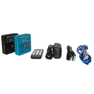 Image 5 - 3.5X 90X simull focal Trinocular mikroskop Stereo 38MP 2K HDMI USB kamera wideo mikroskop lutowania PCB telefon naprawa biżuterii