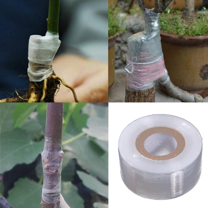 30MM*120M Garden Tree Plants Seedlings Supplies Grafting Tape Film Eco-friendly PE Engraft Branch Bind Self-adhesive Stretchable