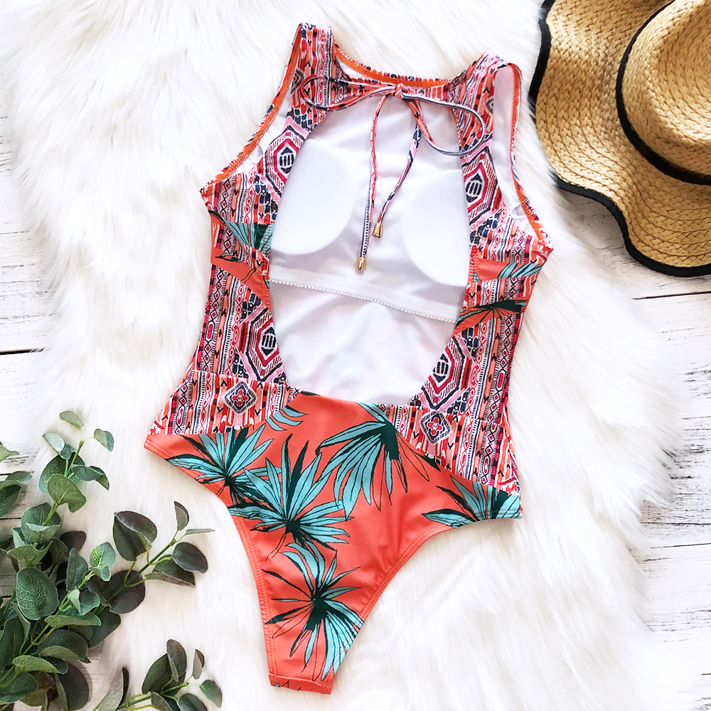 Ha9e7bd3b0eef472b9ce7370c5427336e5 - Striped Women One Piece Swimsuit High Quality Swimwear Printed Push Up Monokini Summer Bathing Suit Tropical Bodysuit Female
