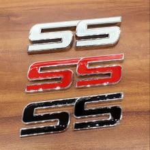 цена на 1pcs metal Car-styling SS leter Emblem Rear Trunk decal Badge Sticker for Chevrolet SAIL AVEO LOVA Epica Captiva Cruze MALIBU