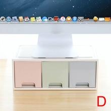 Горячая lcd Монитор подставка держатель кронштейн с офисным ящиком ящик для хранения Органайзер для рабочего стола для DOY