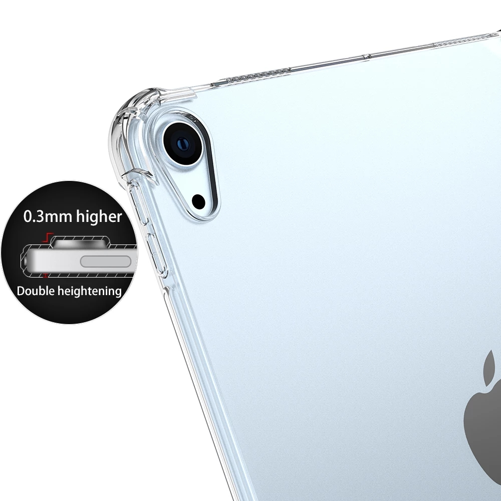 Shockproof soft silicone case for Apple iPad 10 2 7th 8th Generation Air 4 10 9