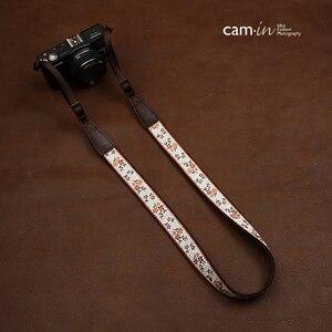 Image 2 - Cam7547 الرقمية SLR شريط كاميرا لينة الصينية نمط المطرزة نسيج القطن أشرطة أكتاف وعنق السيدات