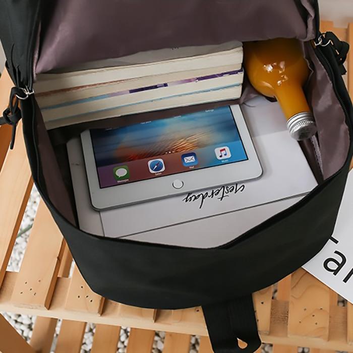 Image 5 - 4set Backpack For Teenage Girls Kids Children Student Women Backpack Booksbag Teen Shoulder Bag Child Schoolbag Mochilas FemaleBackpacks   -
