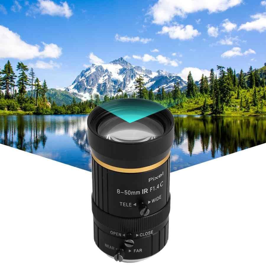 8-50mm 3MP 1/2 apertura Manual c-mount lente de cámara de seguridad CCTV lente de montaje en C