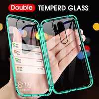 Doppelseitige Magnetische 360 Volle Schützen Gehärtetem Glas Fall Für Red mi K30 K20 Pro Note 7 Pro Note 8 Pro Für Xiao mi mi 9T Por Fall