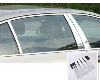 Aluminum Window Pillar Posts Middle Panel Trim For BMW 7 Series G11 G12 2016-18