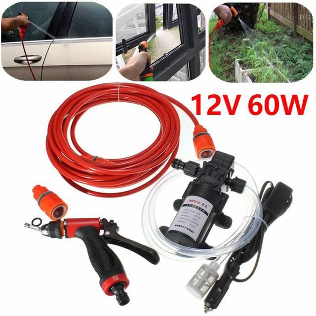 12V 60W Car Washer Pump High Pressure Car Electric Washer Wash Pump Set Portable Auto washing machine Kit Washer Sprayer
