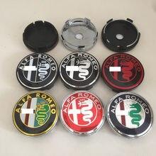 4 pçs alfa romeo 56mm 60mm tampa centro da roda do carro emblema hub cobre emblema adesivo para mito 147 156 159 166 giulietta aranha