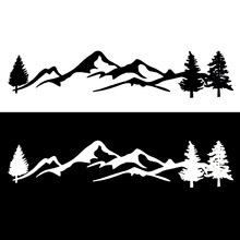 Nova árvore dos desenhos animados cena montanha grande noroeste carro adesivo decalque janela do carro vinil decorativo pvc 100cm x 20cm