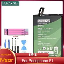FERISING Real 4000mah Original Replacement Battery BM4E For Xiaomi MI Pocophone F1 battery Authentic Phone Battery +Tool Sets
