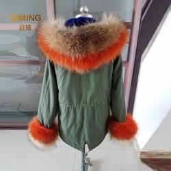 100% Real Fur Collar Cuffs Suit Big Natural Raccoon Fur Fox Fur Winter Fashion