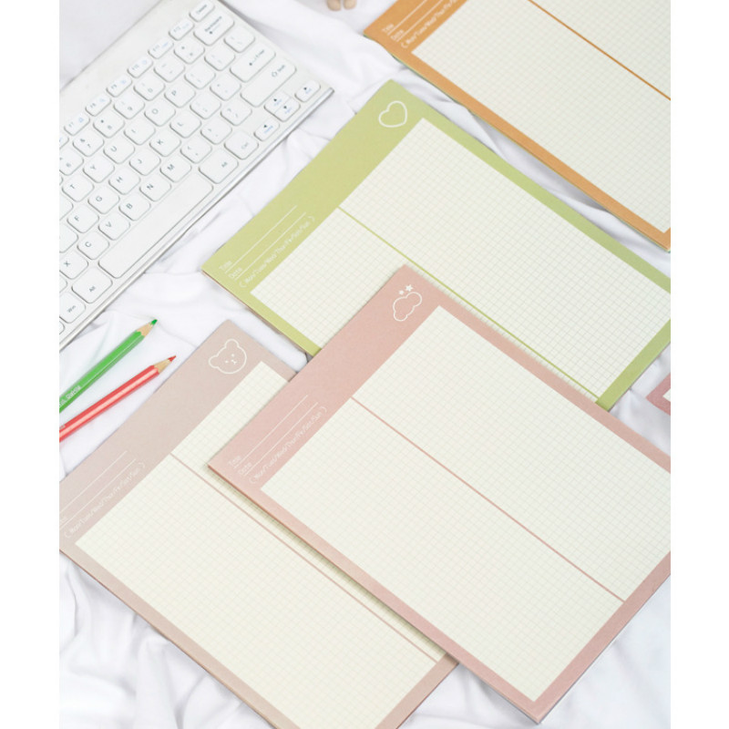 [April Discount] 30 Sheets Grid Paper Note Pad Creative Portable Memo 182mm*257mm