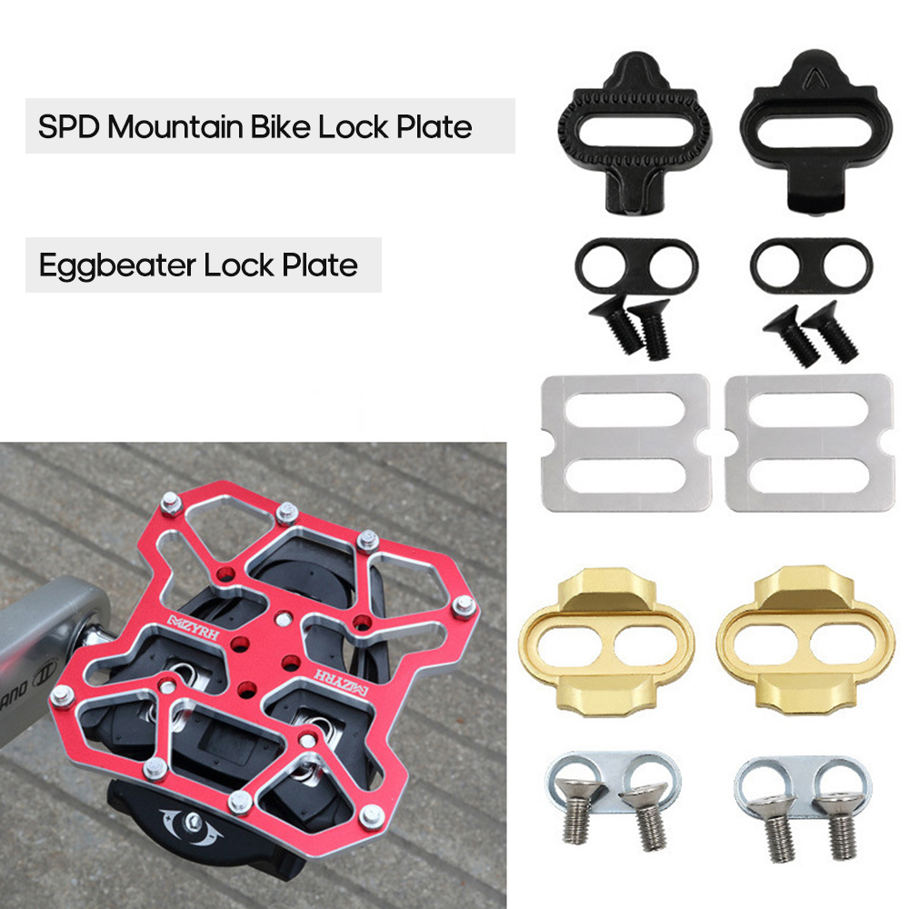 Portable Waterproof Anti-Skid Wear-Resistant Bike Eggbeater Lock Plate MTB Bike Self-Locking Eggbeater Lock Plate