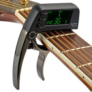 TCapo20 Acoustic Guitar Tuner Capo Quick Change Key Capo Tuner Alloy Material for Electric Guitar Bass Chromatic Accessories(China)