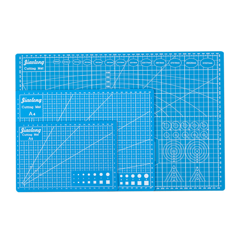 Cutting Mat A3 A4 A5 PVC Patchwork Cut Pad A3 Patchwork Tools Manual DIY Tool Cutting Board Double-sided Self-healing Blue Color