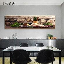 1 pieza de frutas mezcladas, decoración moderna para el hogar, carteles artísticos para pared de cocina, bayas de limón, cuadros de restaurante, lienzo para sala de estar, pintura al óleo