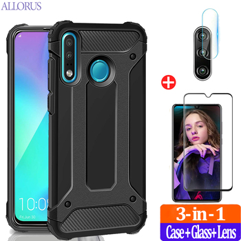 Armor Phone Case For Honor 20 Lite Case Silicone+Hard PC Shockproof Protective Cover Huawei P30 Lite Pro 10 i 20Lite Bumper Case