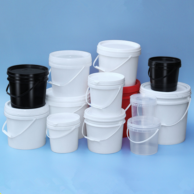 UMETASS 2PCS/lot Thicken Plastic Bucket With Lid And Handle Food Grade Container Leakproof 1L,2L,3L,4L,5L,6L,8L