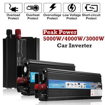 цена на Solar Power Inverter 12V 220V 3000W/4000W/5000W Car Power Inverter Voltage Transformer Converter Solar Inversor Black