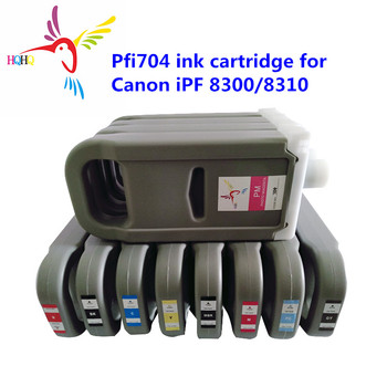 12pcs/set 700ML PFI704 Compatible Ink Cartridge with Pigment Ink For Canon iPF 8300S/8310S PFI704 Ink Cartridge for Canon