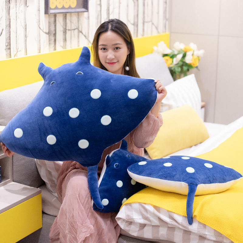 1PC 50/60/80CM Devil Fish Plush Toys Simulation Stuffed Animals Toys Dolls Soft Plush Little Devil For  Kids Gifts Sofa Pillow