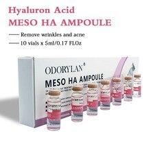 Ácido hialurónico de 5ml, 10 viales reticulados de ácido hialurónico puro Micro Molecular, mesoterapia, colágeno, blanqueamiento de ácido hialurónico, BB Cream Serum