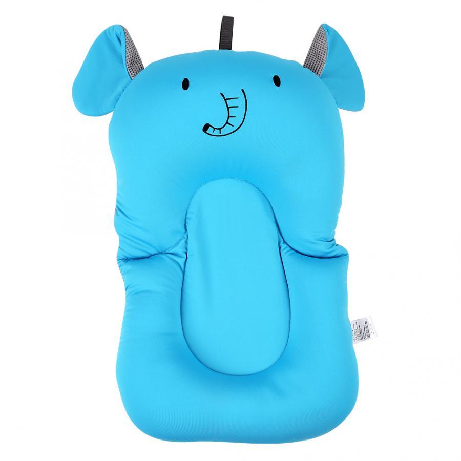 Мягкий коврик для ванной для новорожденного малыша, нескользящий коврик для ванной, подушка для ванной, надувная подушка - Цвет: Blue Elephant