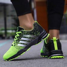 Coslony men running shoes sneakers original Breathable green Outdoor Marathon trend Lightweight Men Sport Shoes plus Size 46 47