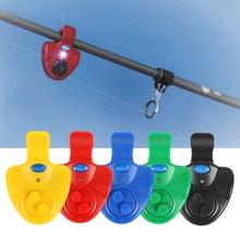 Universal Fishing Alarm Finder Electronic LED Light Fish Detector Bite Sound Alert Clip On Rod