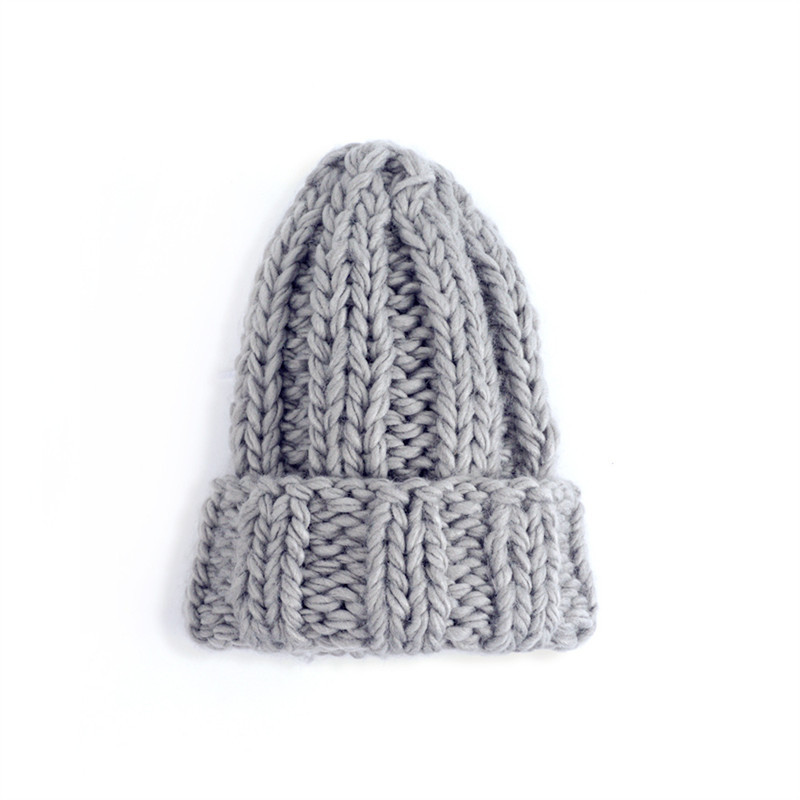 Women Winter Knitted Beanies Hat Thick Soft Warm Coarse Large Knitted Solid Hat Female Ice Ski Bonnet Skullies Beanies Hat Cap 80