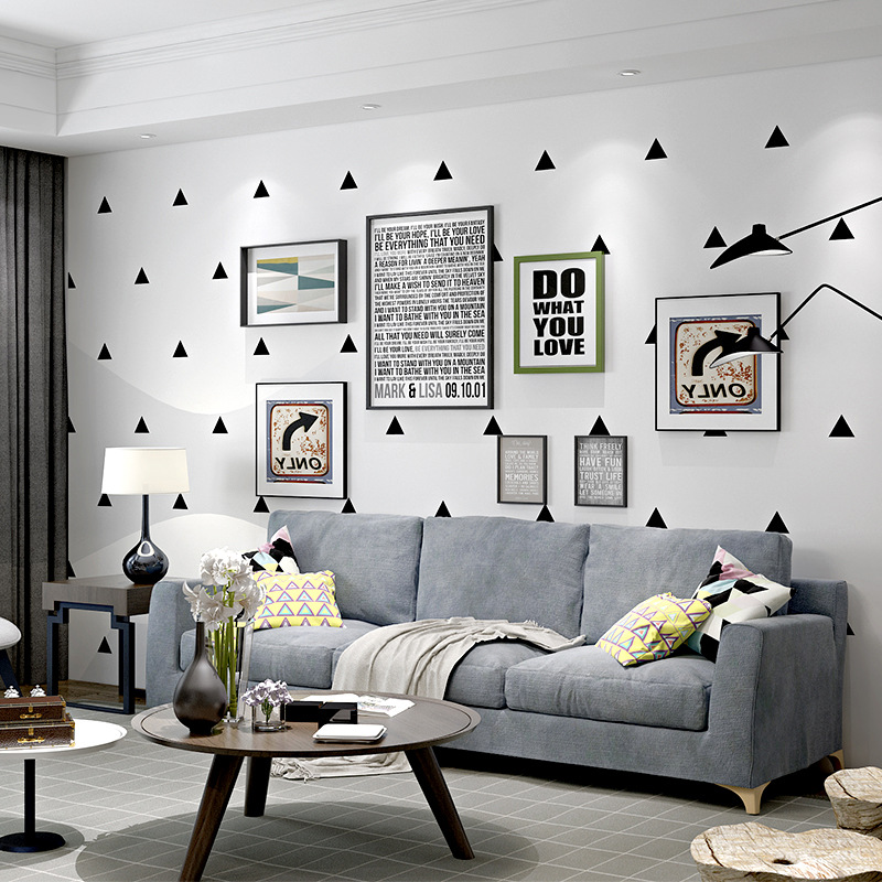 Export Modern Minimalist Nordic Non-woven Wallpaper Living Room Bedroom Sofa TV Background Wallpaper