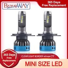 Braveway Auto Lampen Led Chip H1 H4 H7 H8 H11 9005 HB3 9006 HB4 Auto Led Koplamp Lamp Mistlamp 16000LM 6500K 50W Conversie Kit