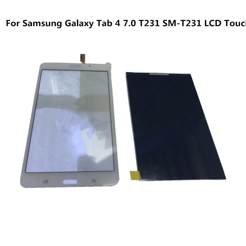 7,0 ''Tested Für Samsung Galaxy Tab 4 7,0 <font><b>T231</b></font> SM-<font><b>T231</b></font> <font><b>LCD</b></font> Display Screen + Touch Screen Digitizer Glass Panel Montage für <font><b>T231</b></font> image