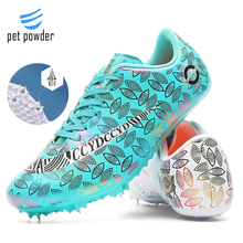Men's Track and Field Shoes Women's Spiked Sports Running Shoes Track and Field Shoes are Light and Breathable