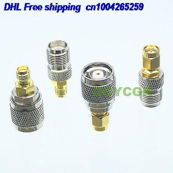 DHL 200pcs 4pcs/set Adapter RPTNC to SMA female F  male M Kit connector  for Communication adapter connector  22cs