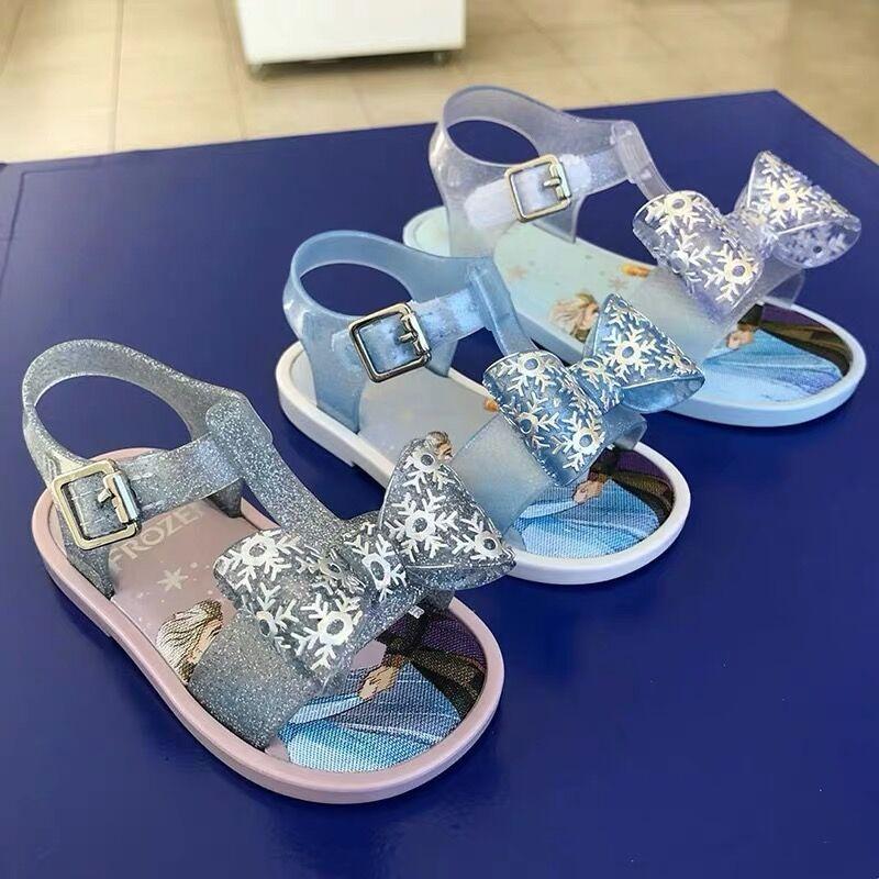 2020 Mini Melissa Jelly Sandals Crown Children Sandals 3D Bow Girls Comfort Snow Princess Shoes Children Melissa Shoes